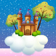 A castle on a cloud — Stock Vector