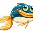 A fish with big eyes  — Imagen vectorial