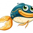 Stock Vector: Fish with big eyes