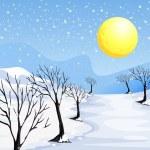 A winter season — Stock Vector