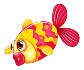 A pouty fish — Stock Vector