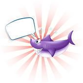 A shark with an empty callout — Stock Vector