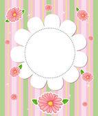 Una papelería diseño floral — Vector de stock