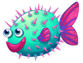 A colorful bubble fish — Stock Vector