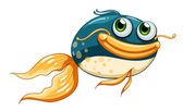 A fish with big eyes — Stock Vector