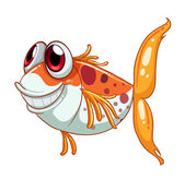 An orange fish with big eyes — Stock Vector