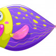 A shy fish — Vector de stock