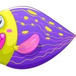 en blyg fisk — Stockvektor