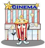 A popcorn at the cinema — Stock Vector