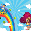 ������, ������: A boy biking in the rainbows