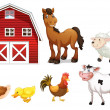 Farm animals — Vector de stock #29220217
