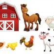 Stok Vektör: Farm animals