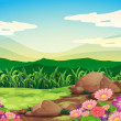 A beautiful scenery — Stock Vector