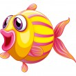 A colorful pouty fish — Stock Vector