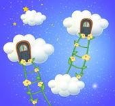 Clouds with doors in the sky — Stock Vector