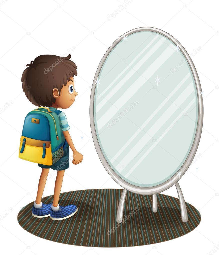 Un ni o frente al espejo archivo im genes vectoriales - Espejo irrompible ninos ...