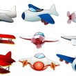 Different plane designs — Stock Vector