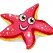 A smiling starfish — Stock Vector