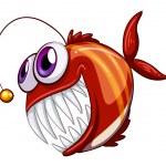 Постер, плакат: An ugly angry fish