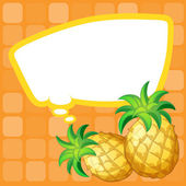 A paper note with pineapples having an empty callout — Stock Vector