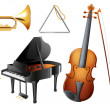 Set of musical instruments — Stock Vector #30285451