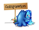 Two compassionate monsters — Stock Vector
