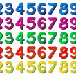 numbers in different colors — Stock Vector