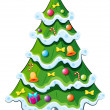 A christmas tree — Vettoriali Stock