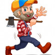 A lumberjack — Stock Vector