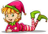 A cute playful elf — Stock Vector