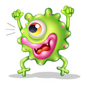 A very excited one-eyed monster — Stock Vector