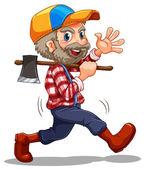 A lumberjack — Stock Vector