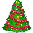 A colorful christmas tree — Stock Vector