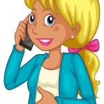 A businesswoman using a cellphone — Stock Vector #32055425