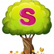 Tree with letter S — Stock Vector #32055871