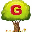 Tree with letter G — Stock Vector #32056631