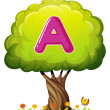 A tree with a letter A — Stock Vector