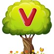 Tree with letter V — Stock Vector #32057873