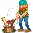 A tired lumberjack — Stock Vector #32057929