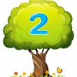 A tree with a number two figure — Stock Vector #32057959