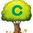 Tree with letter C — Stock Vector #32058069
