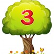 A tree with a number three figure — Stock Vector