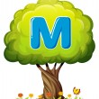 A tree with a letter M — Stock Vector