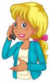 A businesswoman using a cellphone — Stock Vector