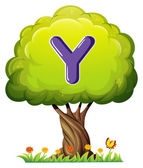 A tree with a letter Y — Stock Vector