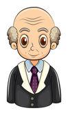 A bald businessman — Stock Vector