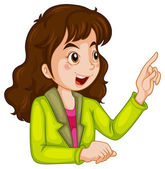 A businesswoman talking — Stock Vector