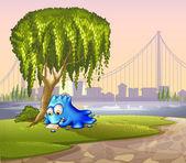 Un monstre sous l'arbre — Vecteur