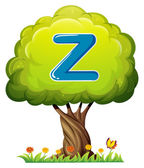 A tree with a letter Z — Stock Vector