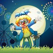 A clown at the carnival — Stock Vector